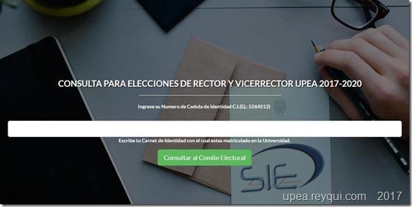 Elecciones UPEA 2017