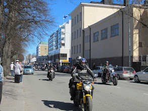 Photo: May Day parade of motorbikes