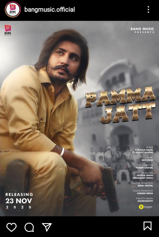 """""""Pamma Jatt"""" - New Song By Korala Mann To Release On November 23"""