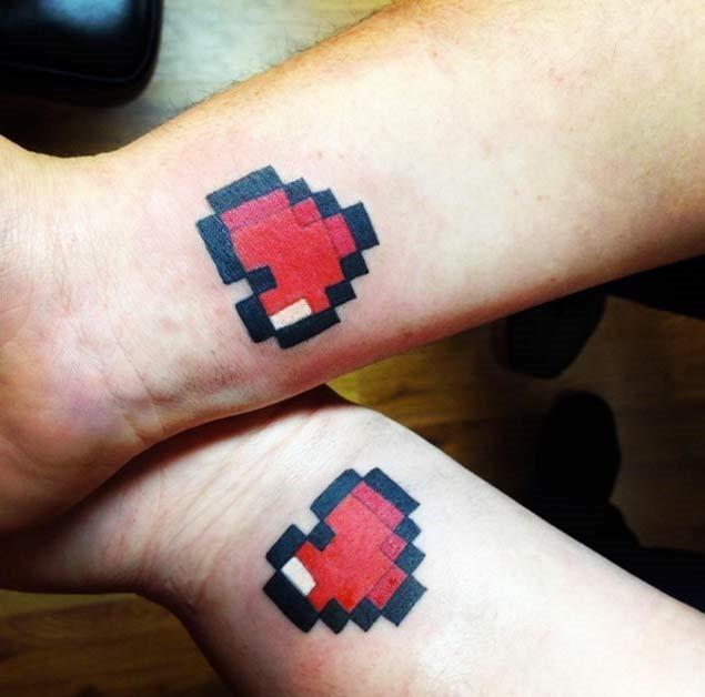 Estes pixelado coração