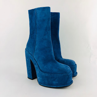 Calvin Klein 205W39NYC Blue Boots sz 37