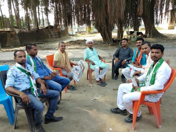 भाजपा कार्यकर्ताओं द्वारा किया गया जनसंपर्क