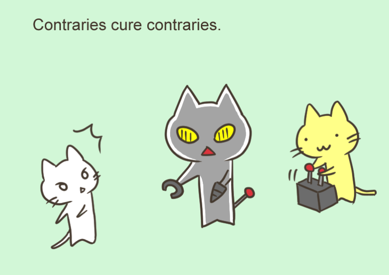 Contraries cure cotraries
