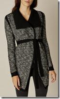 Karen Millen striped tweed cardigan