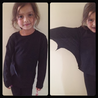 bat costume, bat, Halloween, Hallowe'en, dressing up, homemade
