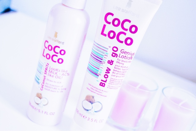 Lee Stafford Coco Loco Coconut Spritz and Blow & Go Genius Lotion