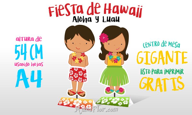 Fiesta Hawaiiana Centro de Mesa Gigante Gratis