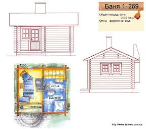 Проект бани 1 - 269