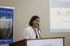 Mirian Vilela, Executive Director of Earth Charter, speaking at conference. http://earthcharter.org/about/mirian-vilela