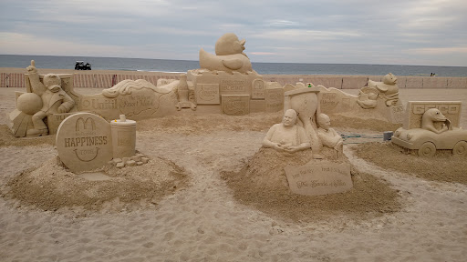 The first few weeks we were there, there was a professional sand castle display. Could any of these have formed by time and chance? Of course not! And we didn't form that way either. We were made by God Almighty!