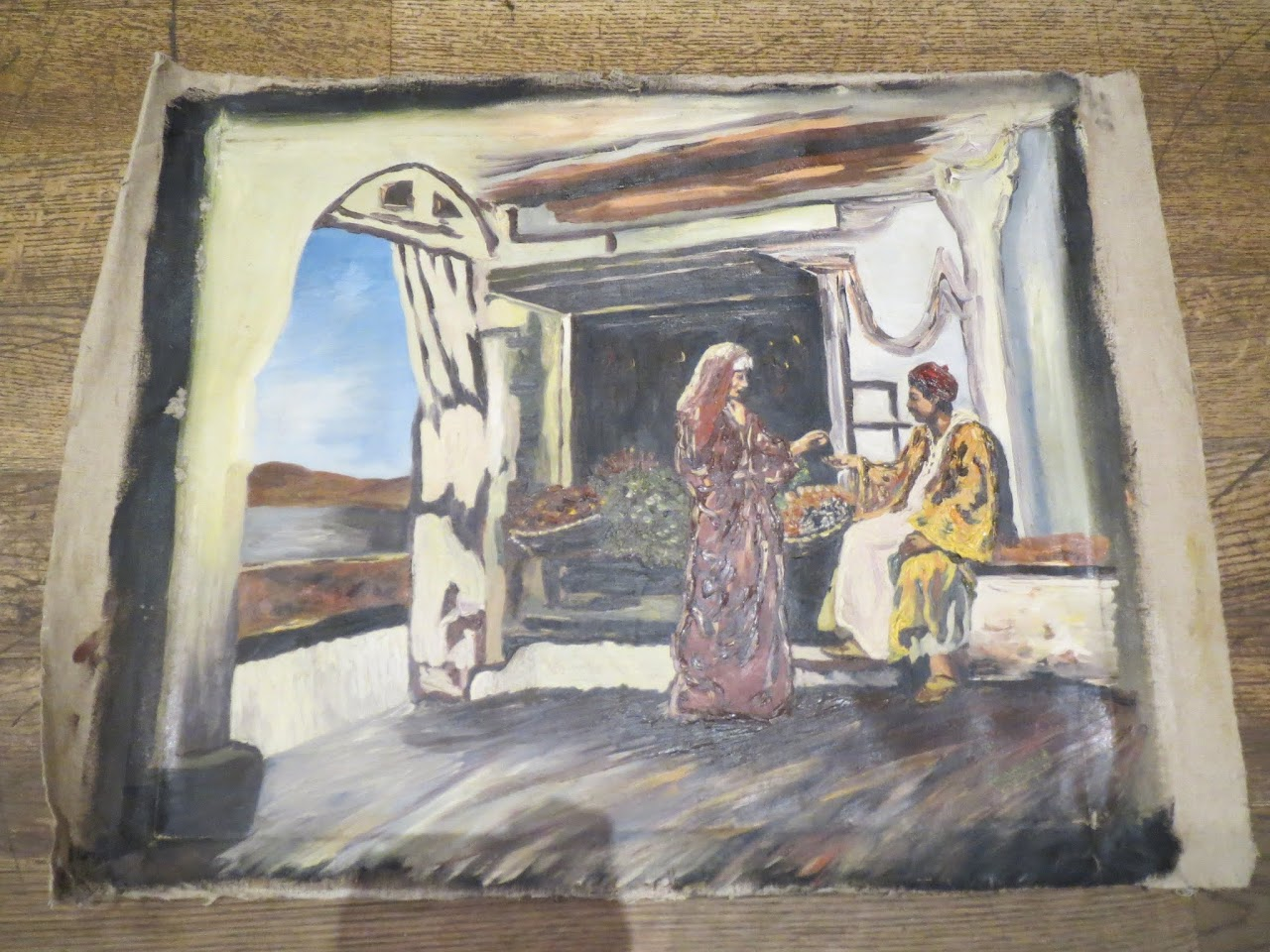 Signed Painting of Man and Woman