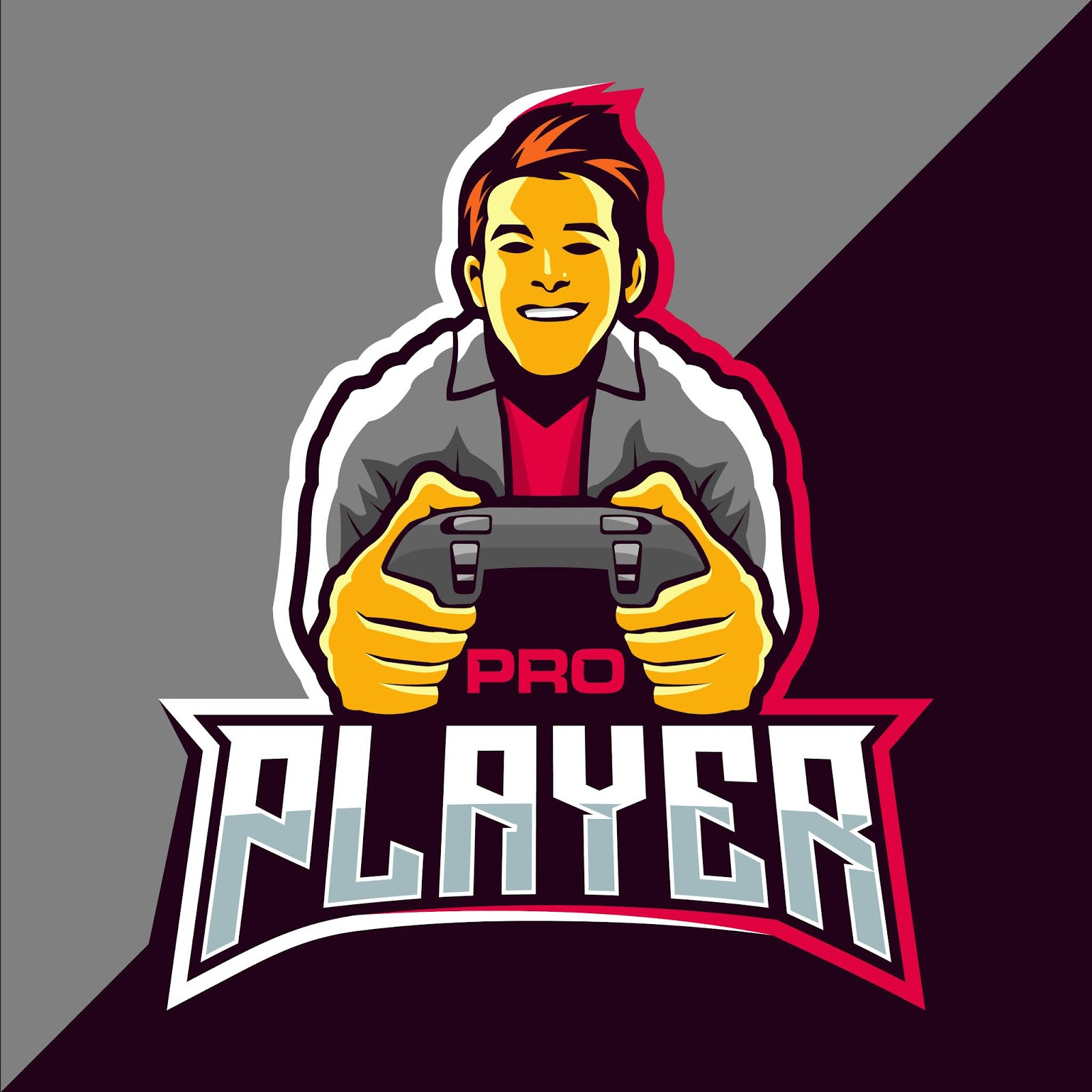 Pro Player Esport Game Style Free Download Vector CDR, AI, EPS and PNG Formats