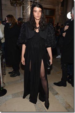 NEW YORK, NY - FEBRUARY 13:  Model Crystal Renn attends the Front Row for the Philipp Plein Fall/Winter 2017/2018 Women's And Men's Fashion Show at The New York Public Library on February 13, 2017 in New York City.  (Photo by Andrew Toth/Getty Images for Philip Plein)