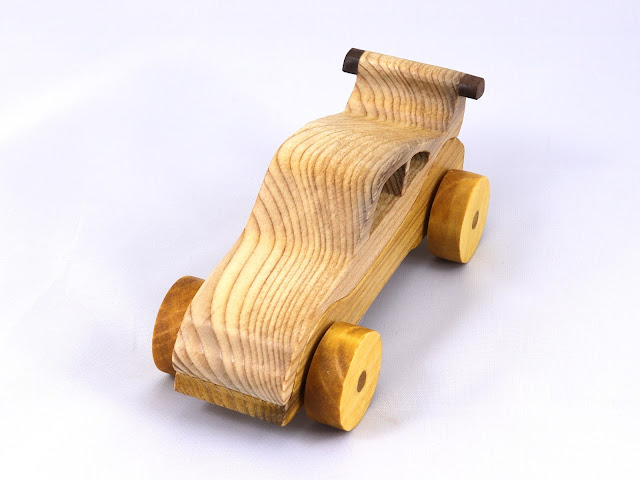 Handmade Wood Toy Car Hot Rod Roadster Coupe From The Speedy Wheels Series