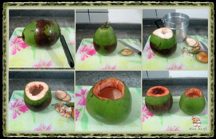 Camarão no coco verde 4