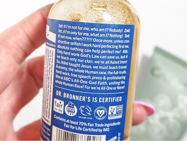 beauty-blog-review-boswell-&-Co-oxford-dr-bronner's-18-in-1-hemp-peppermint-pure-castile-soap