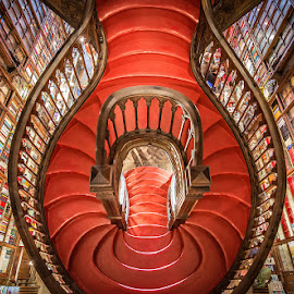 Bookstore by Nick Moulds - Buildings & Architecture Other Interior ( interior, red, bookstore, staircase, architecture )