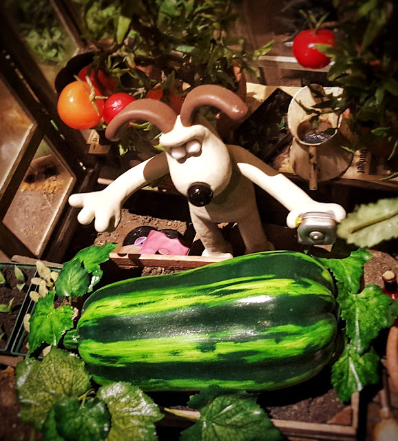 Gromit and his giant marrow