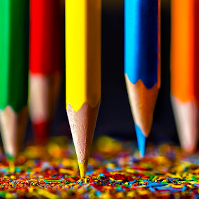 Colours That Reflect Joy by Rilind Hoxha - Artistic Objects Other Objects ( scattered colors, color pencils, macro photography, colors, sharpnes, skopje, dof, colors that reflect joy, nikon d7000, macedonia, rilind hoxha )