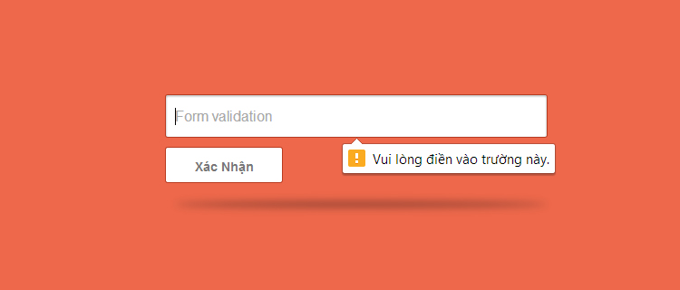 Form Validation Với HTML5