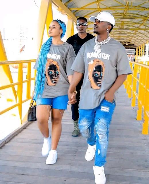 Rayvanny and Paula Kajala in Kenya news Photo