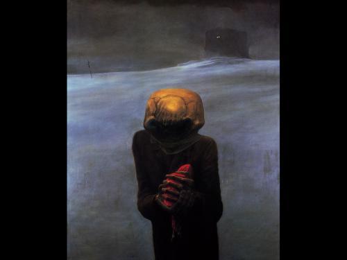 Zdzislaw Beksinski A Figure, Death