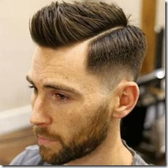 Side part fade haircut spikey hair