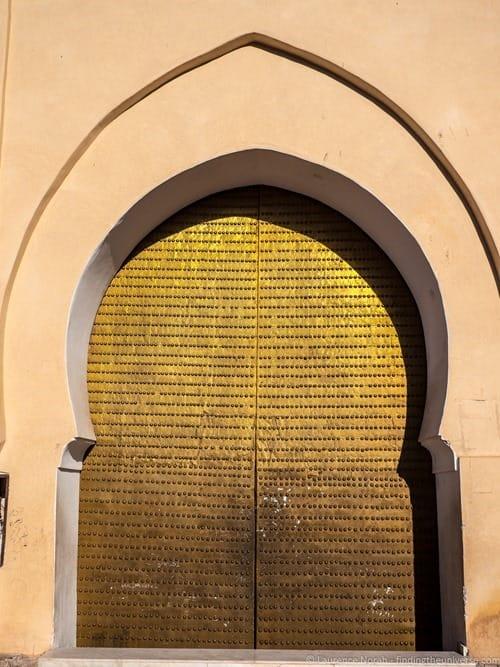 Doorway to mosque marrakech