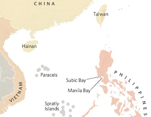 Vi tri Vinh Subic cua Philippines Do hoaglobalbalita