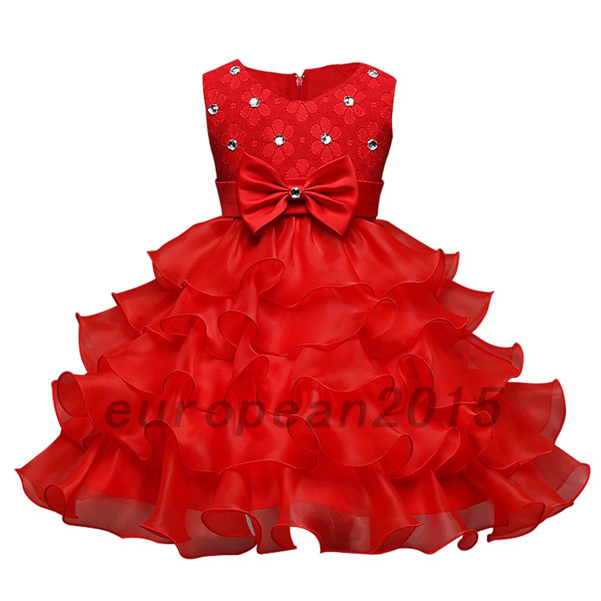 robe princesse n ud papillon c r monie mariage soir e anniversaire filles jupe ebay. Black Bedroom Furniture Sets. Home Design Ideas