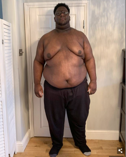 Man loses half his body weight after getting fed up with being the 'fat friend' (photos)