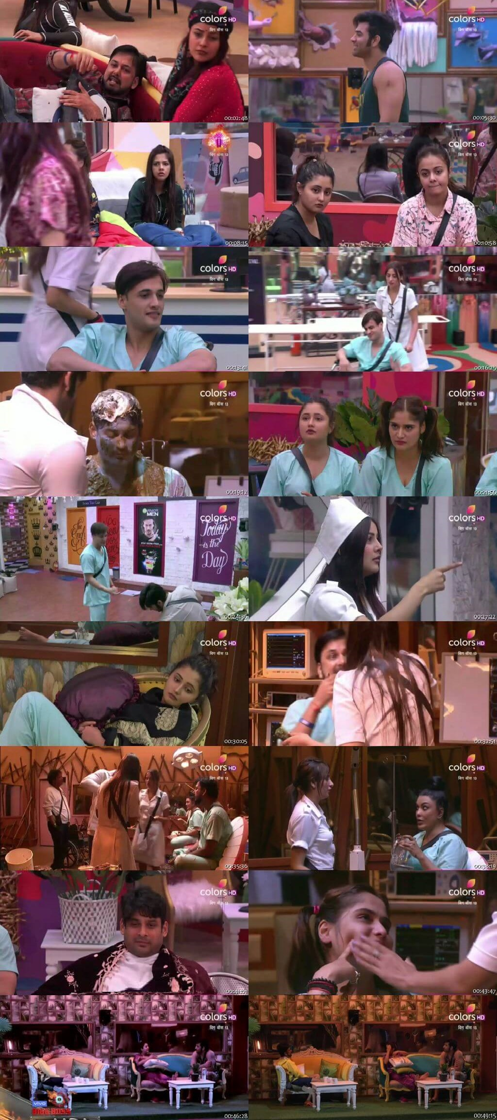 Screenshots Of Hindi Show Bigg Boss 13 2nd October 2019 Episode 03 300MB 480P HD
