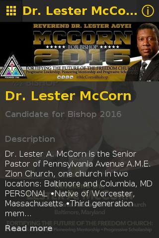 Lester McCorn for Bishop 2016