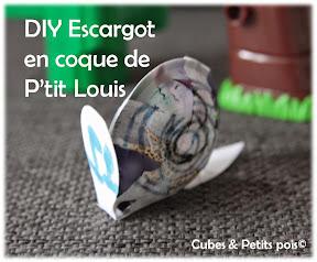 DIY Escargot en coque de fromage P'tit Louis