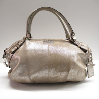 Coach Gold Shimmer Shoulder Bag