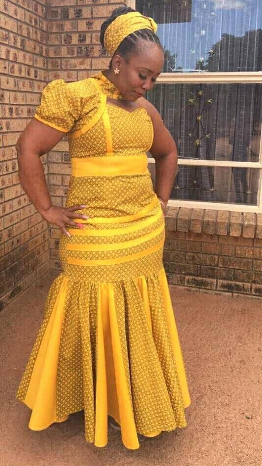 Trendy Shweshwe Designs 2018 You Can Try Styles 7