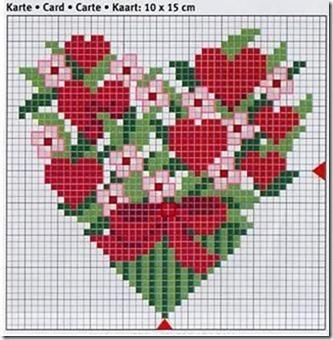 corazones en punto de cruz laborespuntocruz (9)