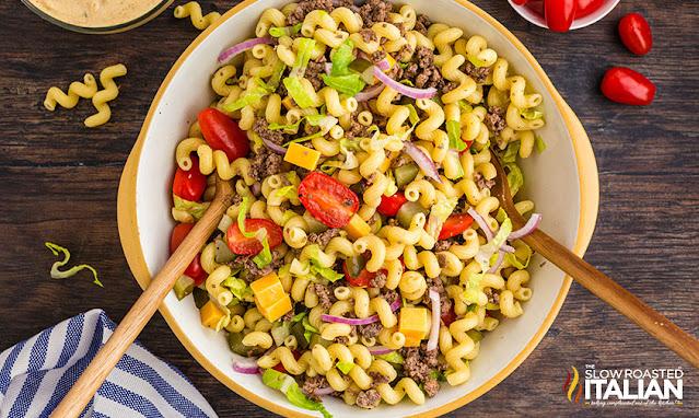 pasta salad recipe in a bowl