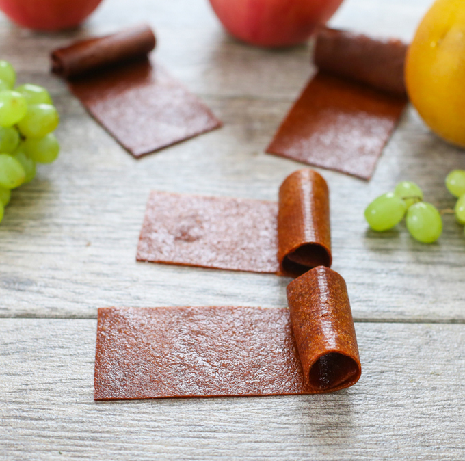 photo of two rolls of fruit leather