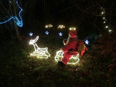 Der Nikolaus auf seinem Renntier