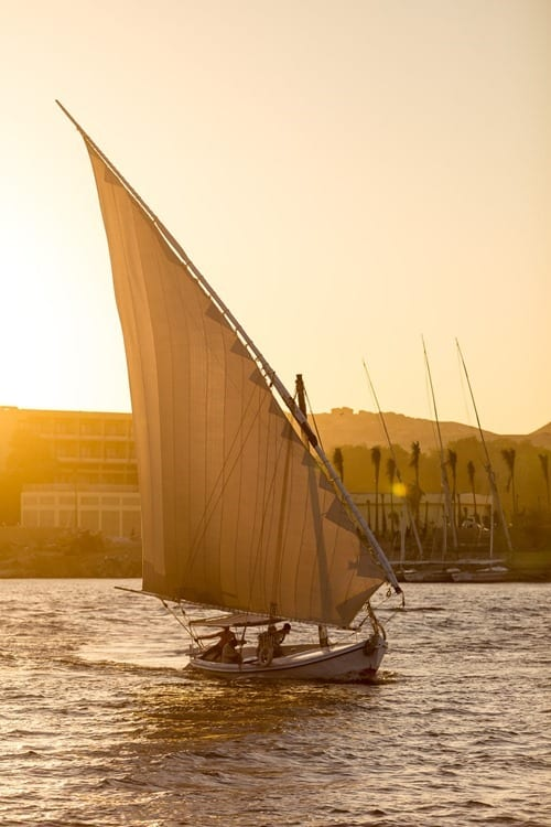 Sail boat on NIle River