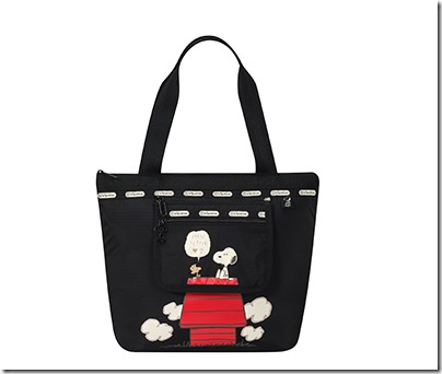 Peanuts X LeSportsac 8269 Small Deluxe Hailey Tote