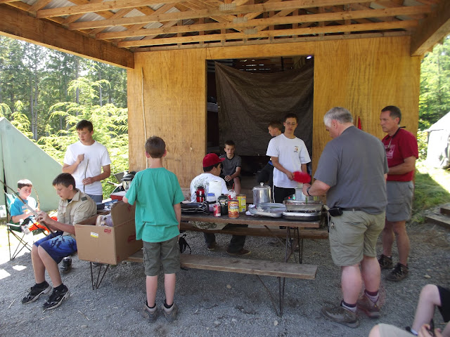 Cooking Lunch in camp
