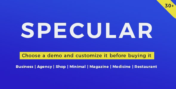 Specular v3.2.2 – Responsive Multi-Purpose Business Theme