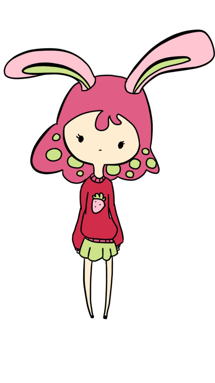 Strawberry Girl made with Sketches