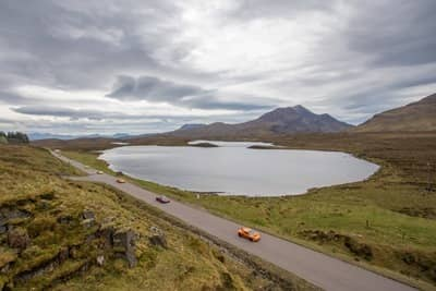 NC500 cars and road