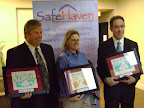 SafeHaven of Tarrant County honored three with awards at its annual meeting. They were Kevin Nelson, Board of Directors Excellence Award; Kathy Rector, Pat Jaynes Philanthropic Award; and the Rev. Brooks Harrington, Katie Sherrod Advocacy Award.