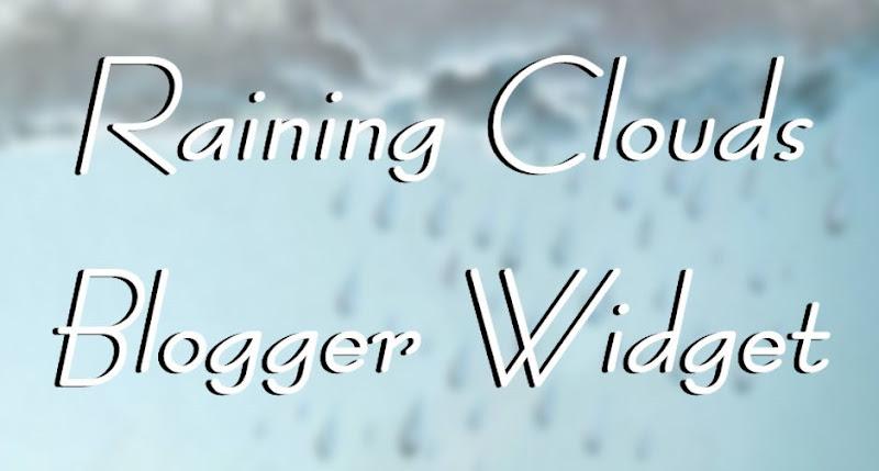 raining clouds blogger widget