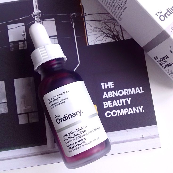 The Ordinary AHA 30% + BHA 2 % Peeling Solution