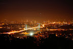 Bosphorus Bridge seen from Camlica Hill at night